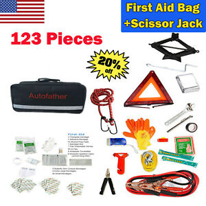 New Emergency Road Assistance Auto Kit Reflective Safety Triangle Scissor Jack