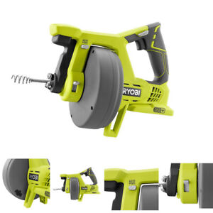Ryobi Drain Auger 18 Volt One Cordless Snake Cleaner Plumbing Clog Tool Only