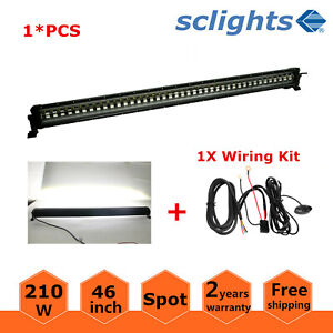 46 inch 210w Led Light Bar Strobe Flash Fog Lamp Atv Suv Rzr Roof Wiring Kit