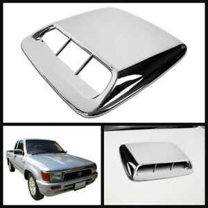 For Toyota Hilux Mighty x Rn85 Mk3 Pickup 1989 97 Hood Scoop Bonnet Cover Chrome