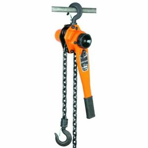 New 1 1 2 Ton Lever Block Hoist Chain Ratchet 5 Ft Come Along Garage Worshop