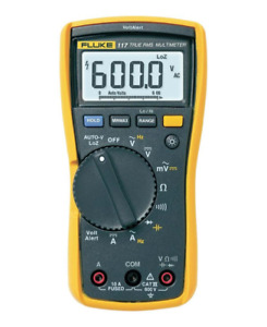 Fluke 117 Standard Electricians True Rms Multimeter Large White Led Backlight