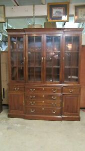 Stickley China Cabinet Breakfront Cherry