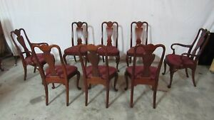 Set Councill Dining Room Chairs Mahogany Eight Dining Set