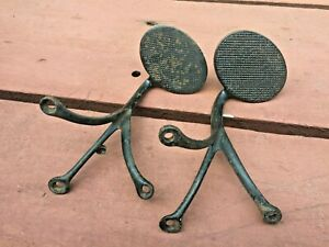 Nice Vintage Antique Carriage Buggy Steps Metal Set Of 2 Cast Iron Kansas Estate