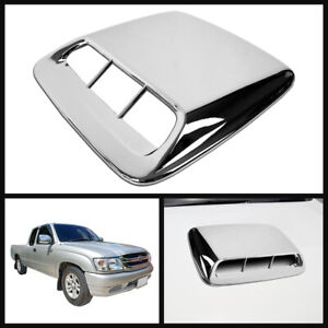 Front Bonnet Scoop Hood Cover Abs Chrome For Toyota Hilux Tiger Mk4 Mk5 98 04