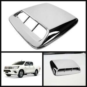 Scoop Bonnet Hood Cover Chrome For Toyota Hilux Revo M70 M80 Pickup 15 19