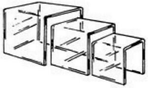 Store Display Fixtures 6 New 3 Piece Set Acrylic Risers 3 4 5 Square