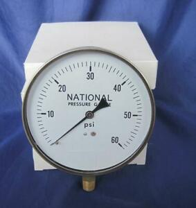4 National Air Pressure Contractor Gauges 0 60 Psi 4 5 Face Lower Mount
