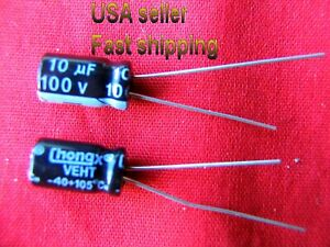 4 Pcs 10uf 100v 105c Electrolytic Capacitors Free Shipping