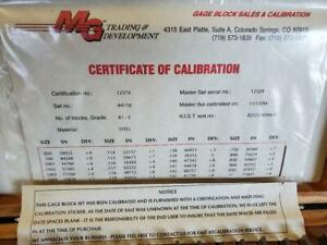 Jit Chuan 81 Piece Precision Gage Block Complete Set With Calibration Papers