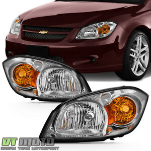 2005 2010 Chevy Cobalt 07 10 Pontiac G5 05 06 Pursuit Headlights Headlamps Pair
