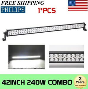 42inch 240w Philips Led Work Light Bar Combo Beam Offroad 4wd Truck Suv Atv Ute