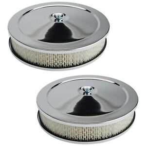 10 Chrome Air Cleaner Assembly 2 Barrel Carb 2 Pack