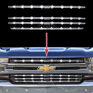 2019 20 Chevy Silverado 1500 Chrome Snap On Grille Overlay Grill Covers Inserts