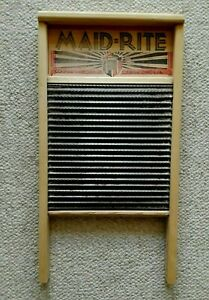 Vintage Maid Rite No 2072 Wash Board Columbus Washboard Co Standard Family Size