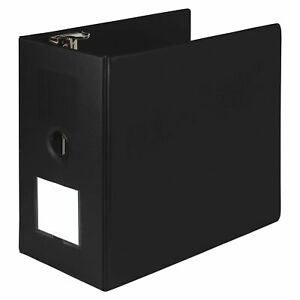 Samsill Heavyweight Reference Ring Binder 3 Ring Binder With Label Holder Fo