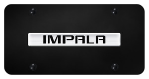 Chevrolet Impala Chrome On Black Powder Coated Stainless Steel License Plate