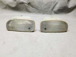 99 04 Jeep Grand Cherokee Oem Fog Lights Front Bumper Insert Housings Clear