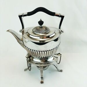 Goldsmiths Silversmiths London 19th C Silver Plate Teapot On Stand