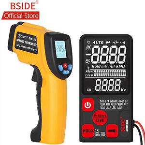 Bside Ebtn Large Screen Smart Multimeter Analog With Infrared Thermometer Kit