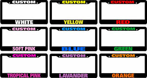 Phone Number Text Custom Personalized License Plate Frame Color Choice