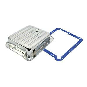 Pan Fill Ford C4 Chrome Steel Automatic Transmission Pan W Moroso Gasket