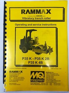 Rammax Vibratory Trench Roller P35k 2b 4b Operating And Service Manual