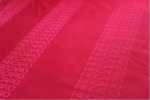Jdm Recaro Seats Red Color Fabric Interior Fabric 75x160cm Front Rear Seat Cover