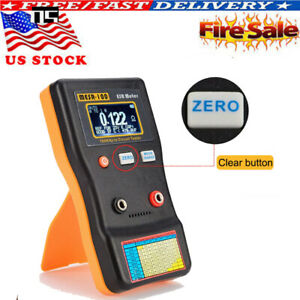 Mesr100 V2 Lcd Auto Ranging In Circuit Esr Capacitor Meter Tester 0 001 To 100r