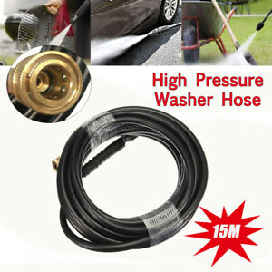 50ft Brass 5800psi Replacement High Pressure Washer Hose Tube 3 8 Quick Connect