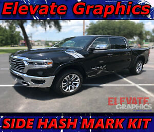 Fits Dodge Ram 1500 Side Hash Mark Stripes Graphics Decals Double Bar 2000 2020
