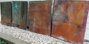 Vintage Copper Panels Metal Roof building craft 29 x35 Apx 7 5 Lb Each