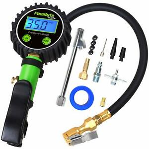 Elite Tire Inflator With 250 Psi 0 1 High Accuracy Digital Tire Pressure Gauge
