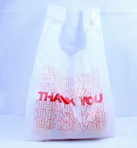 R Noble Thank You Reusable Grocery Plastic Bags 1 6 15mic 600 Count