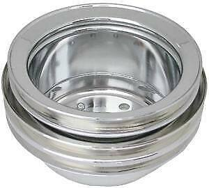Ford 289 Triple Groove Crankshaft Pulley Chrome Racing Power Co packaged R8972