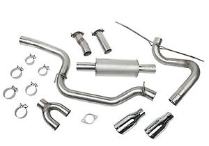 Cat Back Exhaust Kit 12 17 Ford Focus St Roush Performance Parts 421610 High Flo