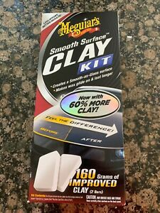 Meguiars Clay Detailer Kit Polish Wax Smooth Surface G1016 Quick Glass Shine