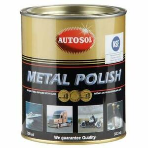 Autosol Original Metal Chrome Aluminium Polishing Paste 750ml Tin