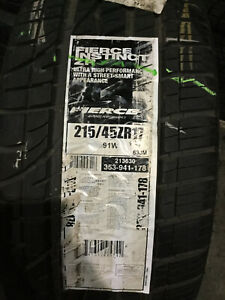 4 New 215 45 17 Fierce Instinct Zr Tires