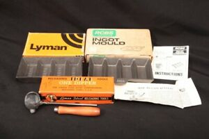 2x Ingot Molds 1 Lb. 4x Cavity & Lyman Lead Dipper In Factory Boxes