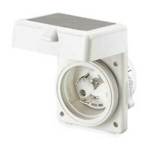 Hubbell Wiring Device kellems Hbl303nm 30a Marine Flanged Locking Inlet 2p 3w