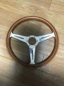 Nardi Wood Steering Wheel Slightly Scratched And Dirty Car Parts Steering