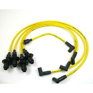 Pertronix 804505 Flame thrower Spark Plug Wires 4 Cyl 8mm Vw Yellow