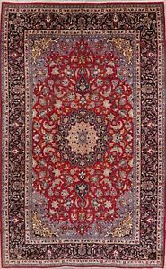 One Of A Kind Large Traditional Floral Ardakan Red Rug Hand Made Oriental 9 X16