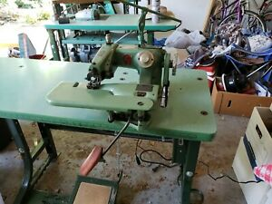 Us Blind Stich Corp 718 c Industrial Sewing Blindstich Machine With Table Motor