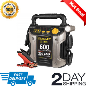 Battery Charger 600 Peak 300 Auto Jump Starter Booster Portable Power Pack Car