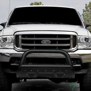 Topline For 1999 2004 Ford F250 F350 Studded Mesh Bull Bar Guard Textured Black