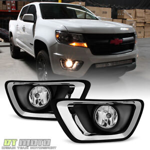 2015 2017 Chevy Colorado Replacement Complete Fog Lights Bumper Lamps W Switch