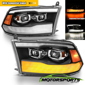 Sequential Signal 2009 2018 Dodge Ram 1500 2500 3500 Drl Projector Headlights